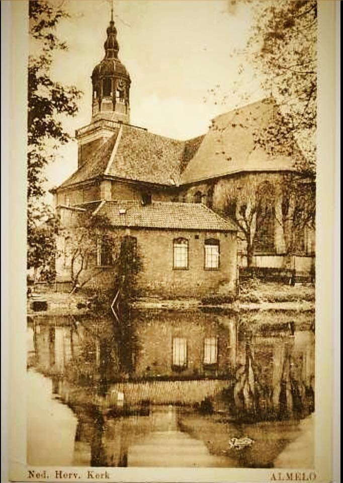 """Mooie oude ansichtkaart van de hervormde kerk oftewel """"het Kolkje""""(682×960)"""