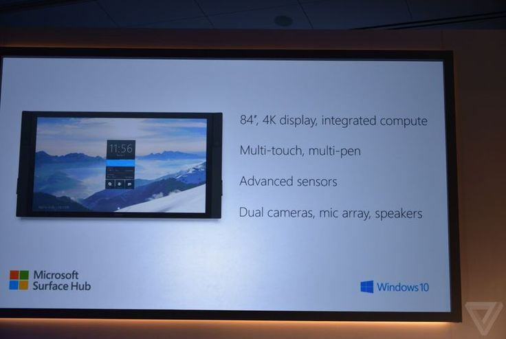 Microsoft announces 84-inch Surface Hub tailored for Windows 10
