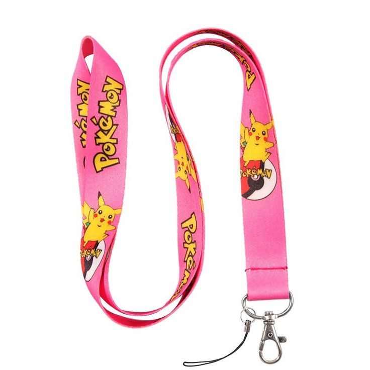 Pokemon Pikachu Light Pink Lanyard Straps - http://amzn.to/2cPYa5u