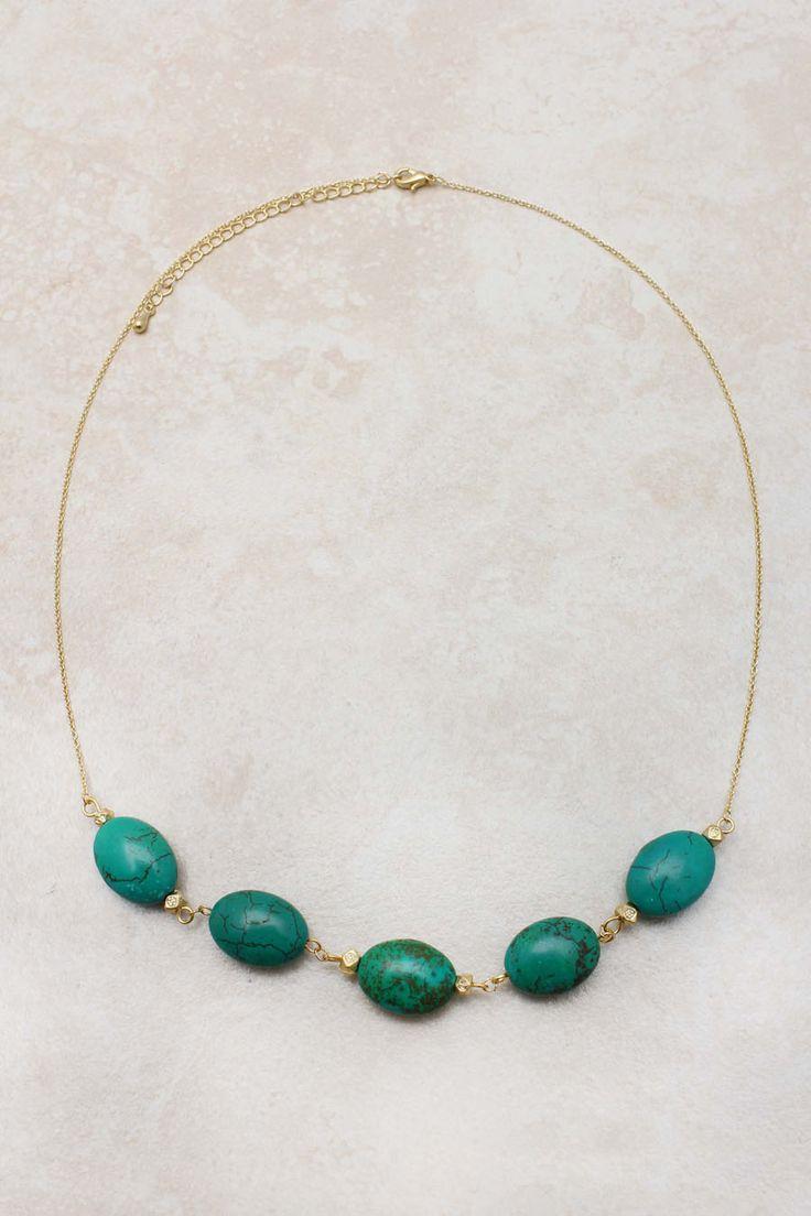 Emerald Turquoise Necklace | Emma Stine >> Such a pretty color!