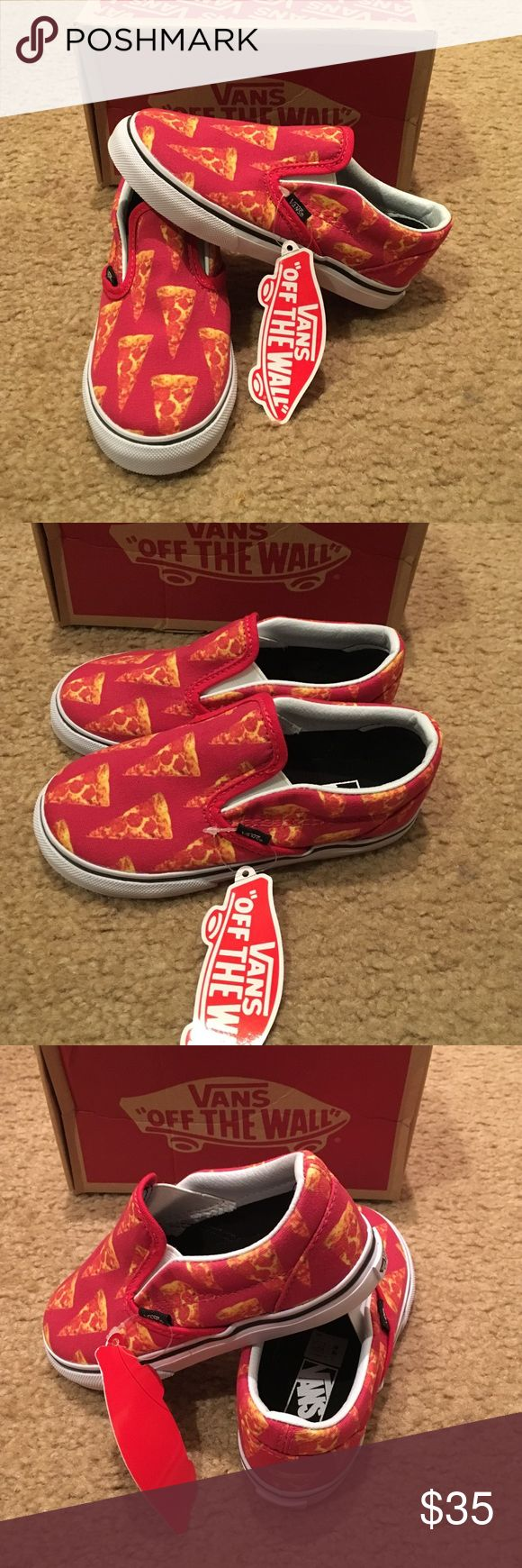 Vans Authentic Toddler Late Night Pizza Sneakers New with tags. Red/white/pizza. Classic slip Ons. Unisex Vans Shoes Sneakers