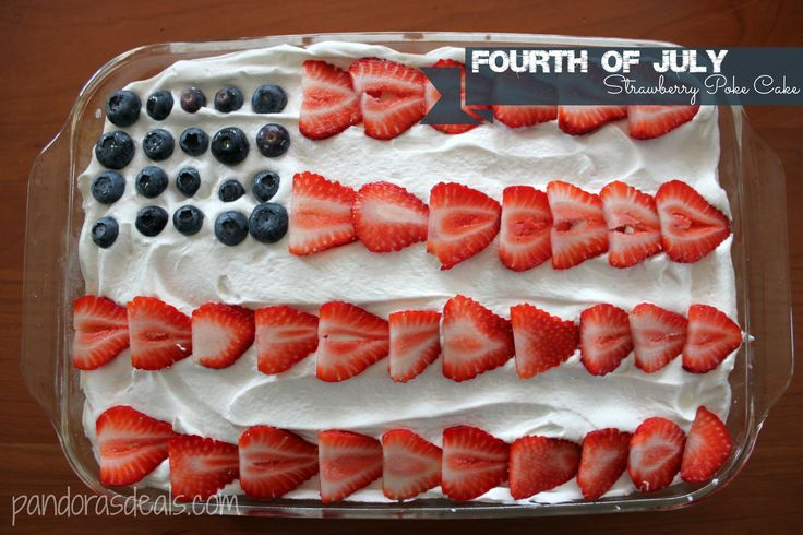Fourth Of July Strawberry Poke Cake Recipe Recipe