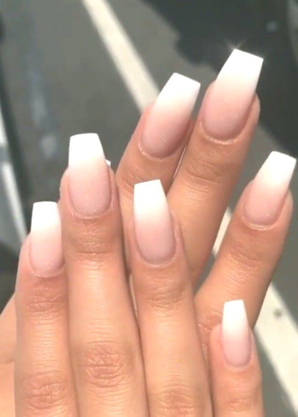 Acrylic Nails Square Ombre Acrylics Are Fake Nails Placed Over