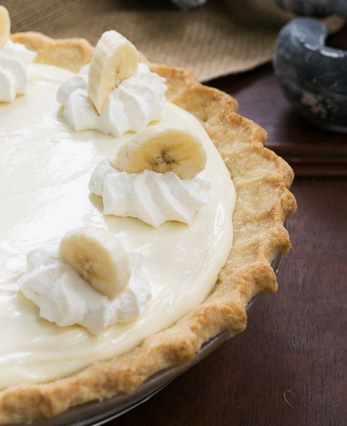 Banana Cream Cheesecake Pie | Combining two wonderful desserts for a virtual Summer in the South dinner! #ProgressiveEats