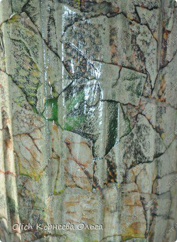 Декор предметов Декупаж Имитация под камень и обратный декупаж Бумага Краска Салфетки Стекло фото 4