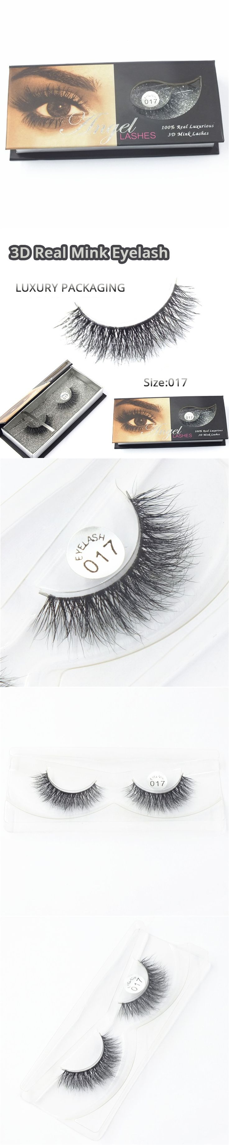 1 Pair High-Quality 3D Fashion Bushy Cross Natural False Eyelashes Mink Hair Handmade Long Eye Lashes  M-017