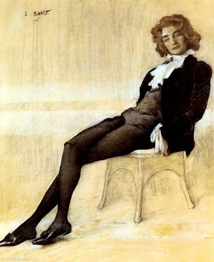 Лев Самойлович Бакст - Портрет Зинаиды Гиппиус, 1906, Третьяковская галерея