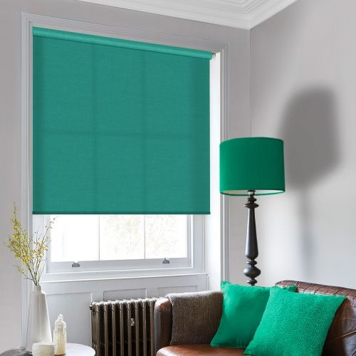 Sale Twist is a vibrant green roller blind