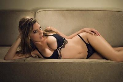 Kelly Brook Poster 24x36 black lingerie
