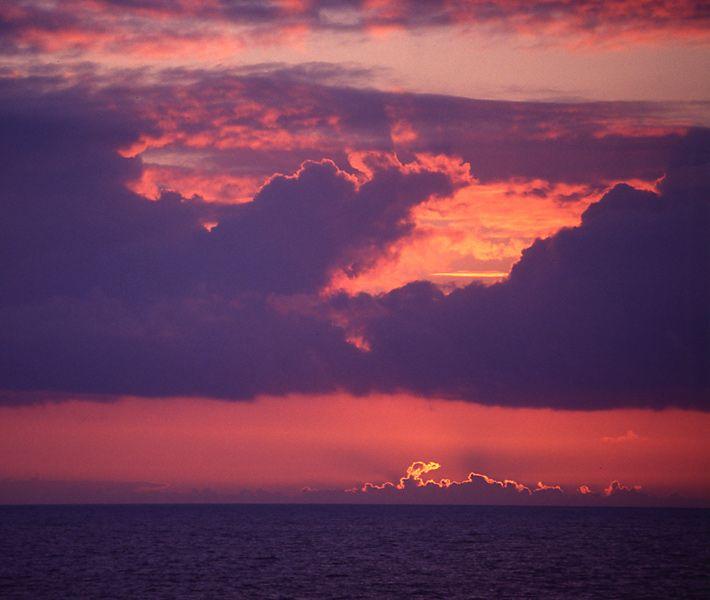 Coucher de soleil aux Costans