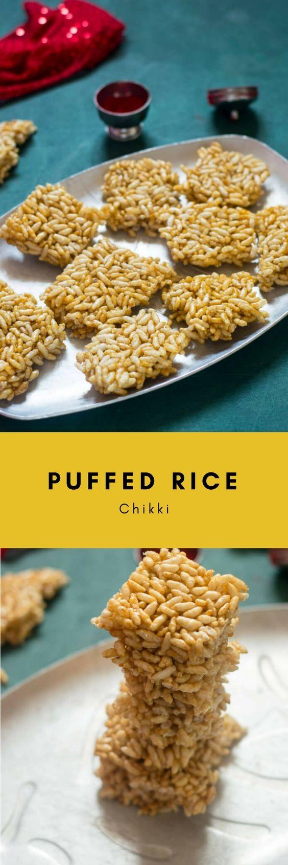 Murmura Chikki   Puffed Rice And Jaggery Bars - CookingWithSapana
