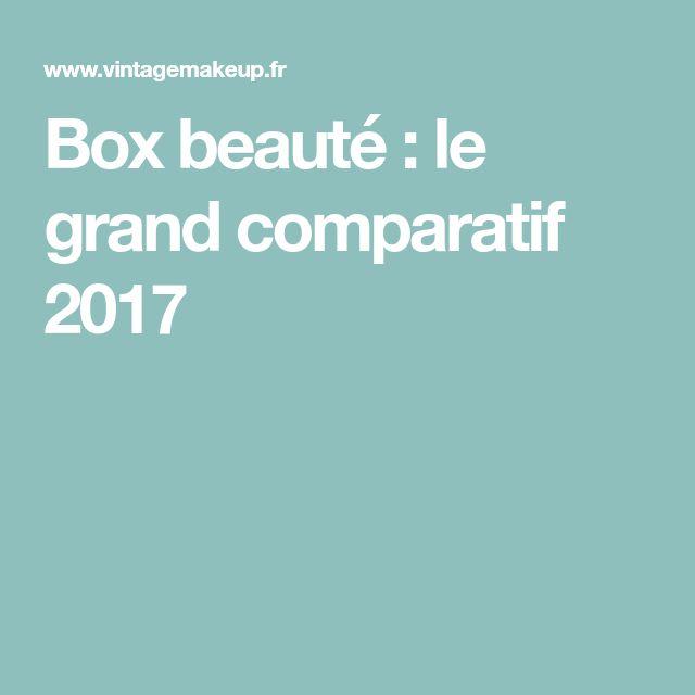 Box beauté : le grand comparatif 2017