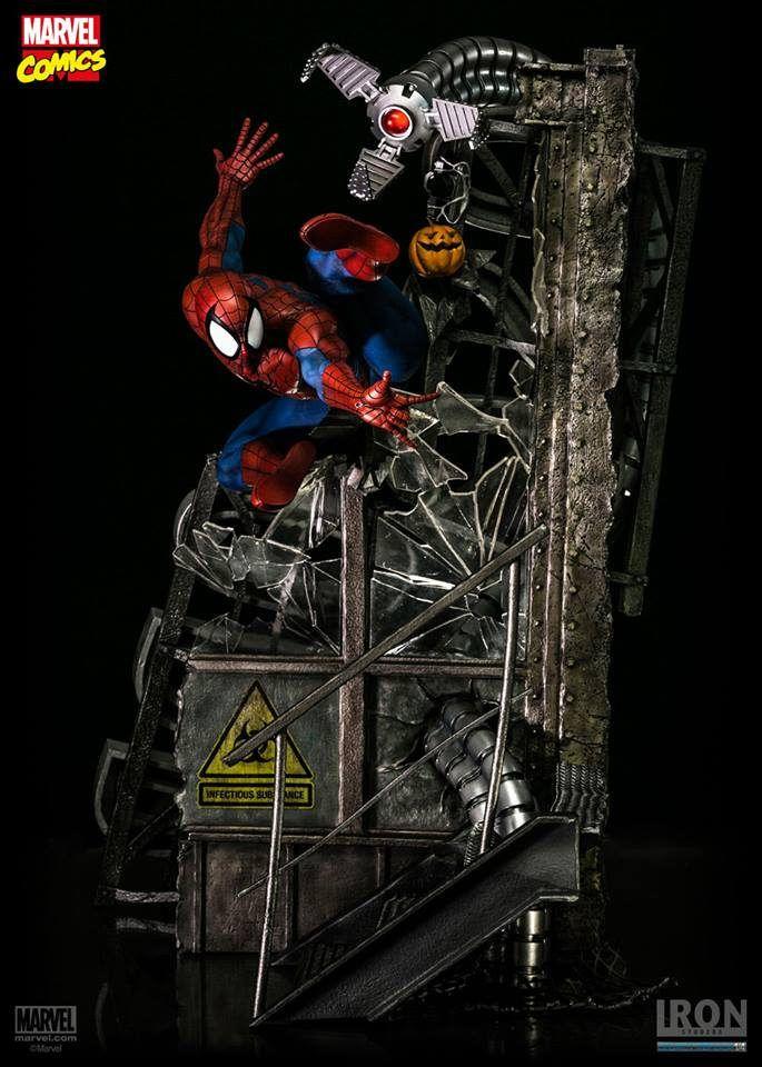 Iron Studios【蜘蛛人】Sipder-Man 1/4 比例 全身戰鬥場景雕像 | 玩具人Toy People News