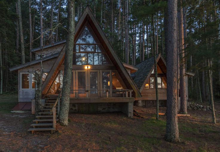 The A-frame cabin style is not as popular these days, but thoughtful additions can help modernize the structures and refresh their connections to beautiful settings. (Photo courtesy of Dale Mulfinger)