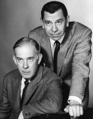 "Dragnet - Harry Morgan and Jack Webb.    ""Just the fact's ma'am."""