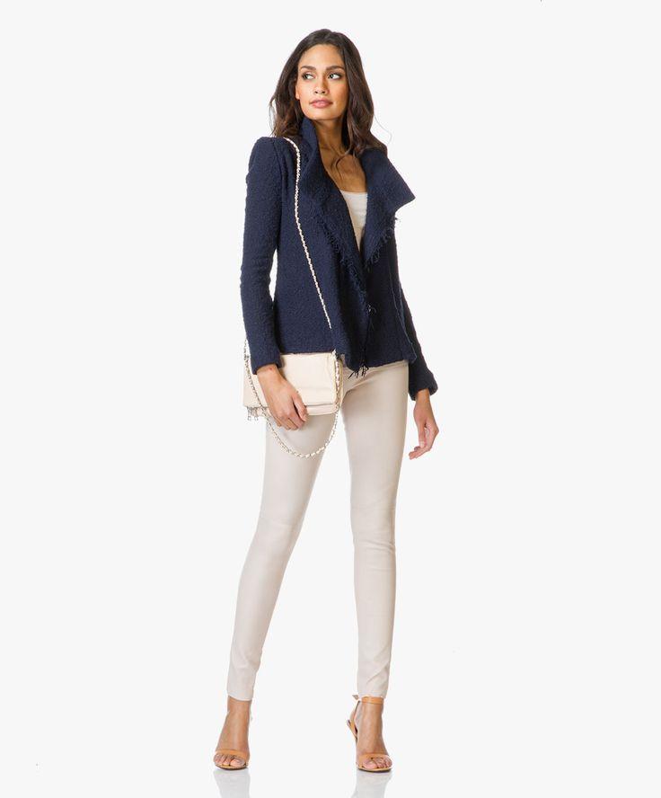 800 MM6 Leather Skinny Trousers - Ecru
