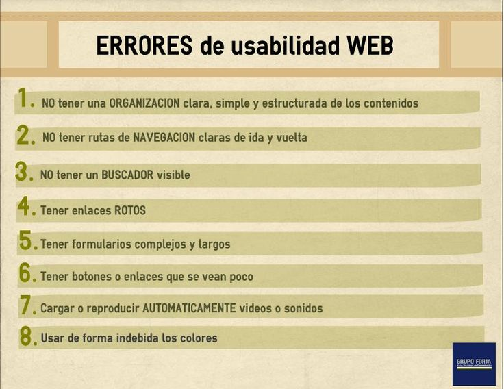 Errores de #usabilidad web