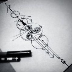 tecnica puntillismo tatuaje triskel - Buscar con Google