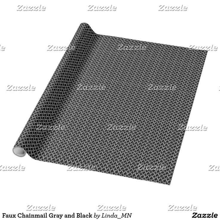 Faux Chainmail Gray and Black Wrapping Paper