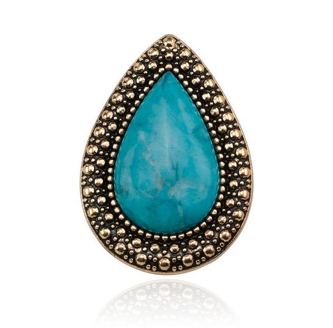 SW BOHEMIAN BARDOT RING, DEEP OCEAN BLUE