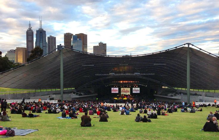 Sydney Myer Music Bowl, most known for holding Carols by candlelight but also many musical events.