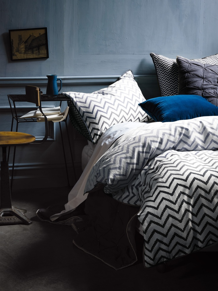 """inka in smoke"" bed linen, great bedroom colours"