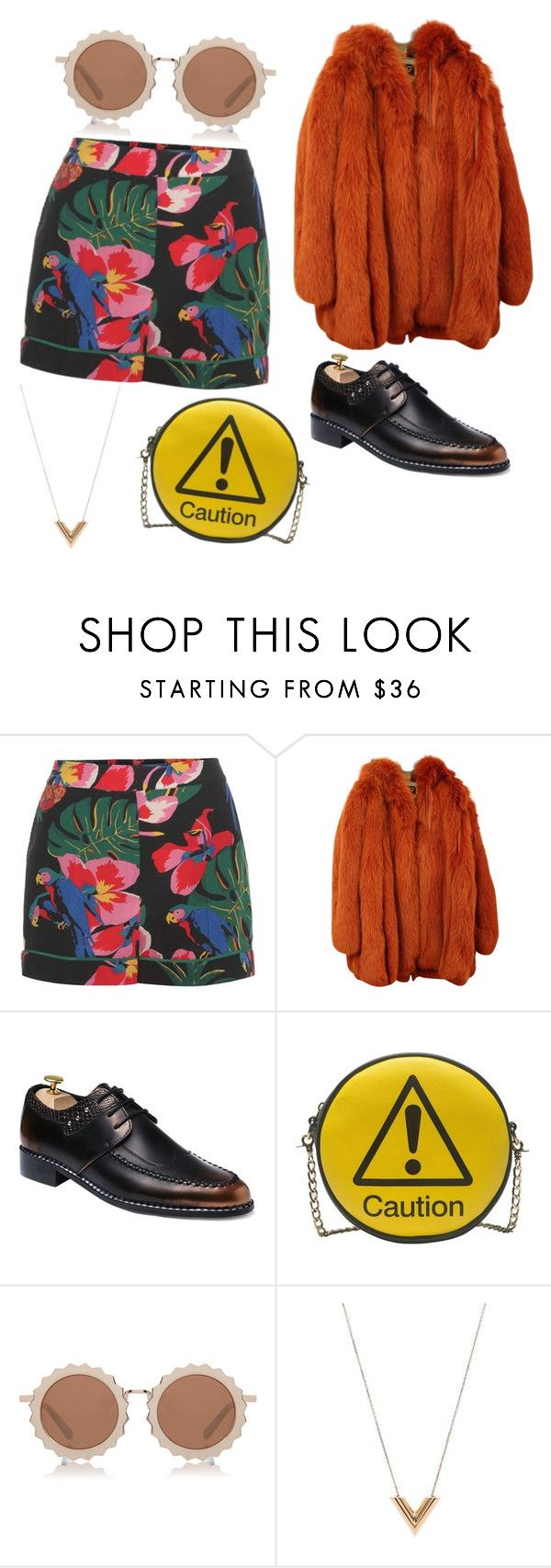 """""""CAUTION"""" by voguehf ❤ liked on Polyvore featuring Valentino, Dolce&Gabbana, Melie Bianco, House of Holland and Louis Vuitton"""
