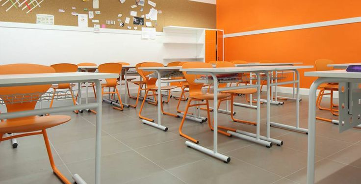A old building where inside there is a modern #school in Milan full of colors. #Tiles: More Iridium by Ceramiche Caesar
