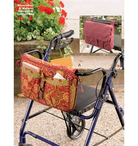 Pattern for a Wheelchair & Walker Carryall & Carrier Bag