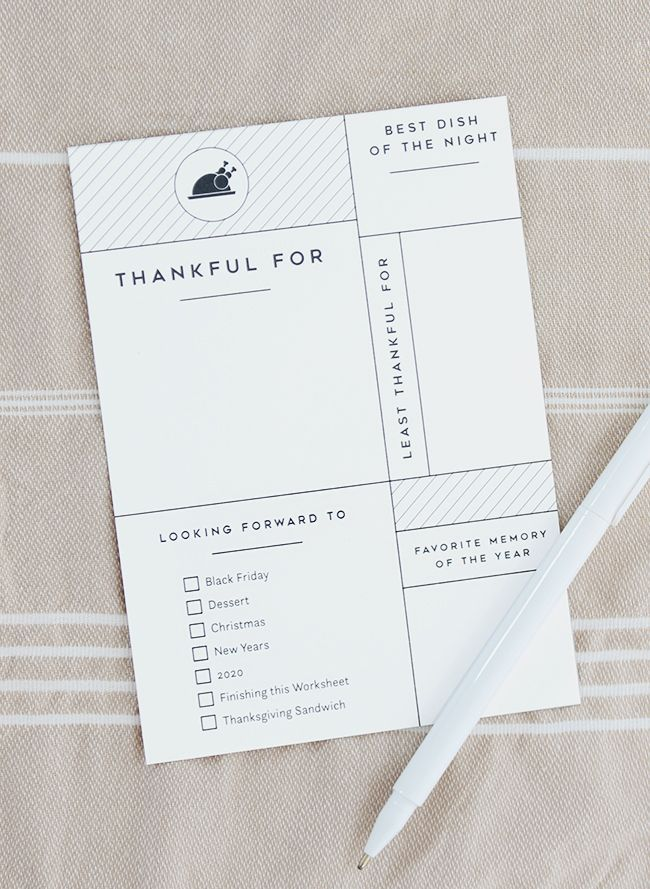 PRINTABLE THANKSGIVING WORKSHEET