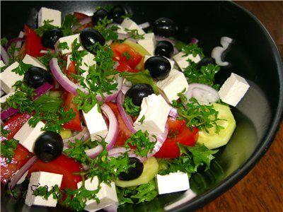 Салат греческий рецепт с фотографией