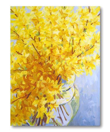 Take a look at this Yellow Fresh Vase Canvas Wall Art by COURTSIDE MARKET on #zulily today!