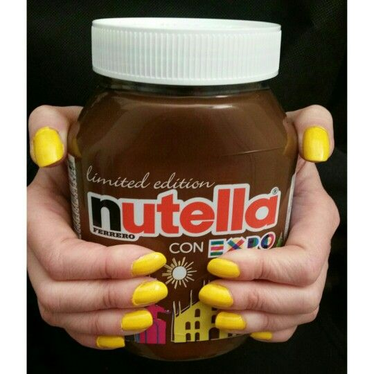 Fuudly nails with Nutella Limited Edition  @fuudly @Nutella_Italia