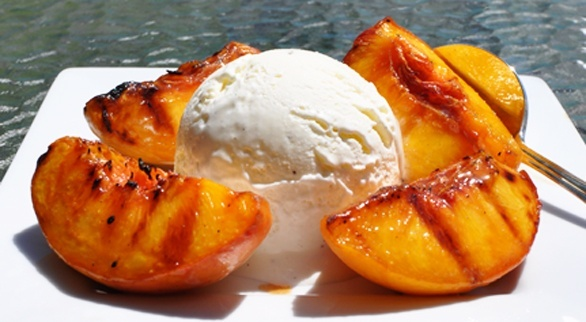 Grilled Georgia Peaches and Ice Cream | Deserts | Pinterest