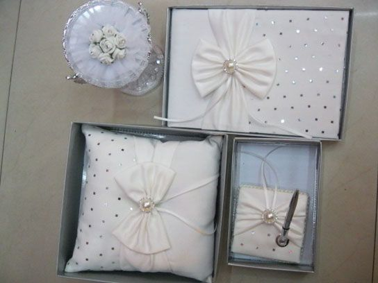 Blotchy Ivory Satin, with Mirror, Guest Book & Pen Sets,Ring Pillow,US$42.00   Read More:    http://weddingspurple.com/index.php?r=blotchy-ivory-satin-with-mirror-guest-book-pen-sets-ring-pillow-w440005.html