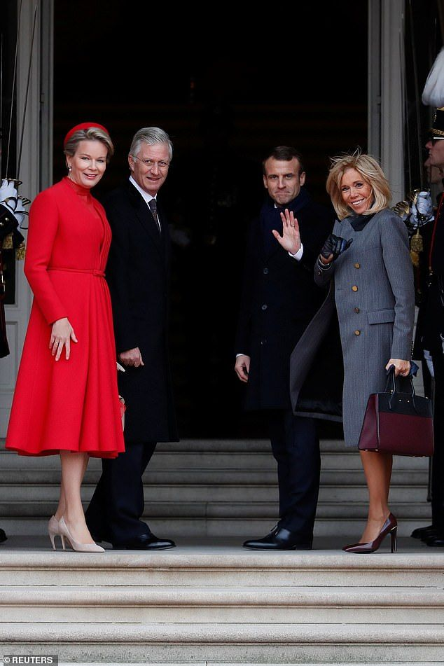 Brigitte Macron And Belgium S Queen Mathilde Meet In Brussels Koninklijke Familie Koningin Royalty