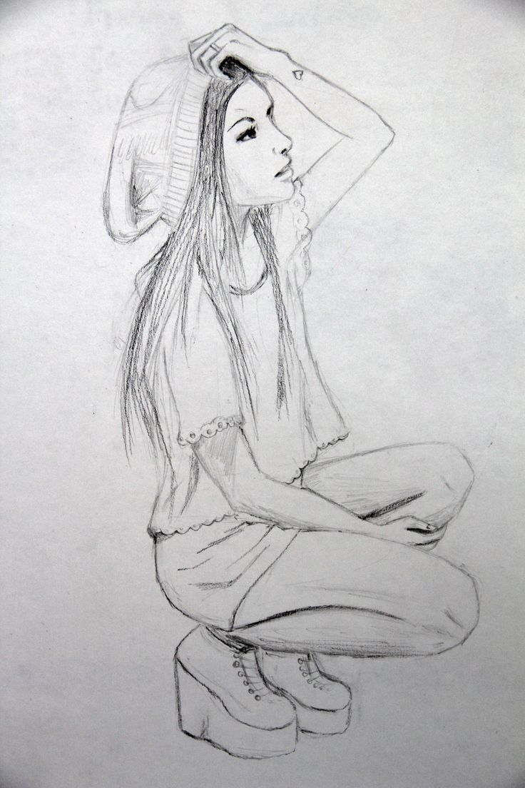 Image result for girl drawing side view