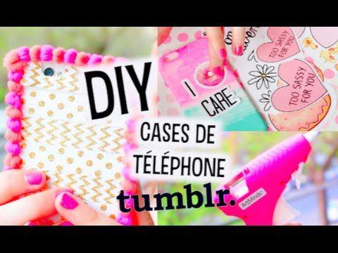 DIY | Cases de Téléphone, Facile + Inspiration Tumblr! ♡ - YouTube