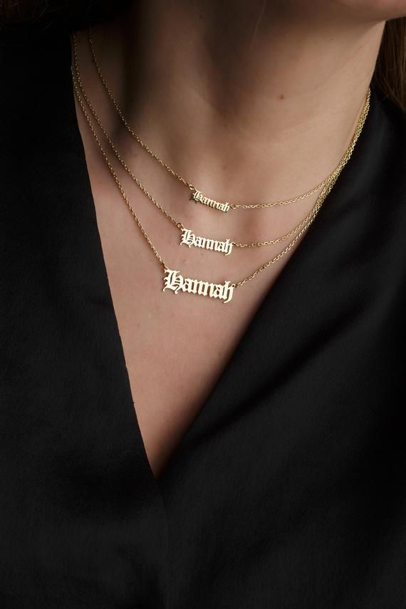 Plate Custom Name Necklace Personalized Name Necklace Silver Jewelry Christmas Name Necklace New Year Gift Dainty
