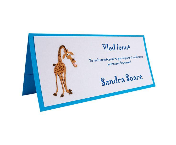 Place Card Botez Madagascar - Melman