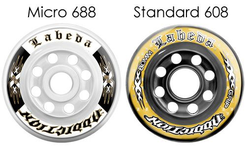 Standard 608 vs Micro 688 Bearing Inline Hockey Wheels