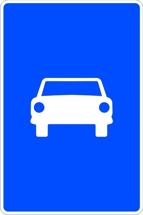 Señal vía para automóviles