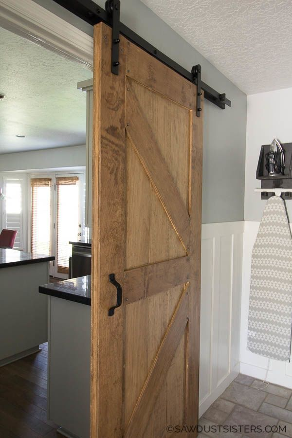 How To Build A Two Sided Barn Door Building A Barn Door Diy Barn Door Sliding Barn Door Hardware