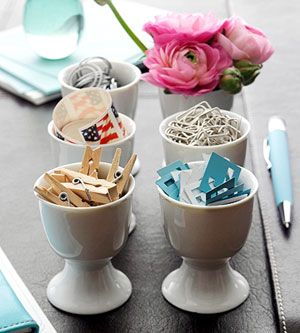 Egg cups for cute storage