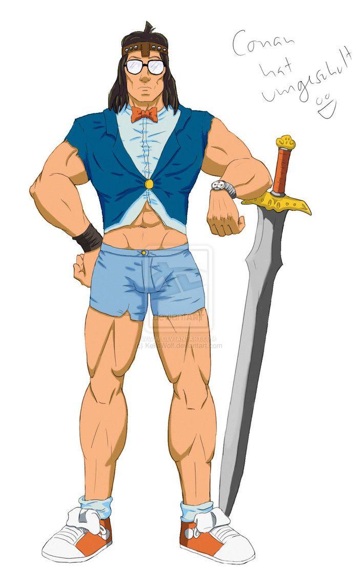 Detektiv Conan der Barbar by KeksWolf on deviantART