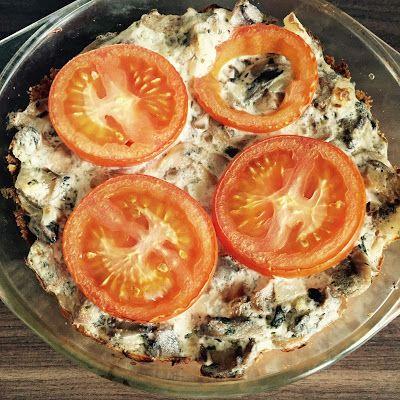 Mushroom-tomato croustade
