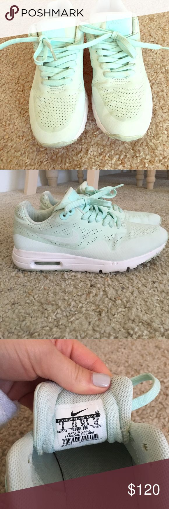Rare Tiffany blue Nike air max size 6 Rare Tiffany blue Nike air max shoes size 6. Worn only a handful of times, look brand new! Nike Shoes Athletic Shoes