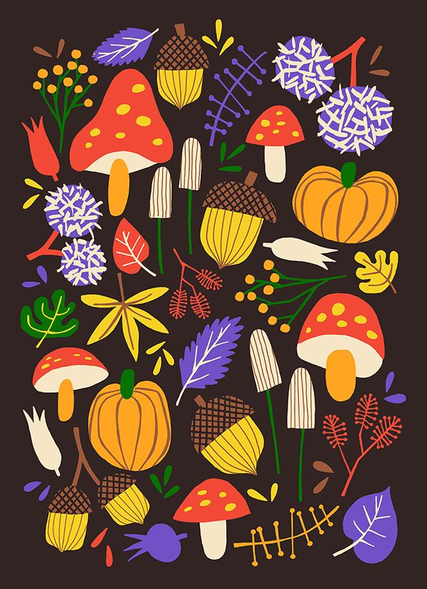 Autumn by Marijke Buurlage #illustration #seasonal #autumn