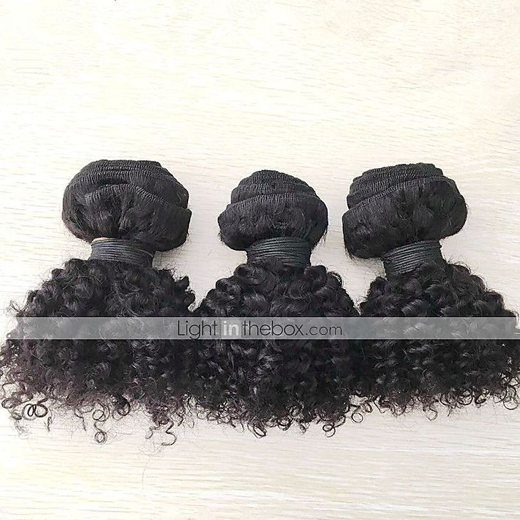 "3pcs/lot 8""-20"" Mongolian Kinky Curly Human Hair Extension Afro Kinky Curly Human Hair Weaves 5112513 2016 – $76.00"