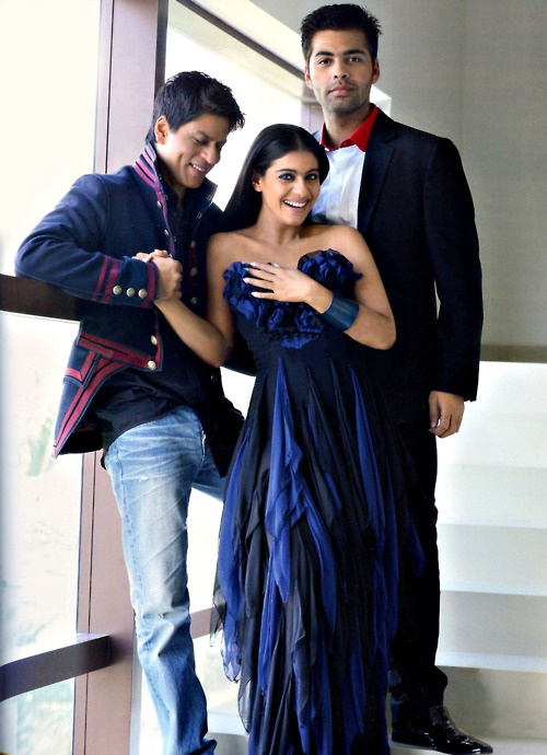 I love this photo of Shahrukh and kajol... karan just looks creepy in the background (The friends of Bollywood)